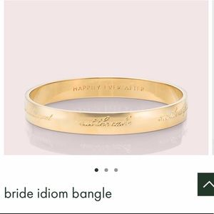Kate spade Bride bangle, gold, Happily Ever After